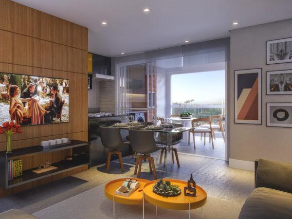 Horizon residencial - Martin Luther King - living 3 dormitorios