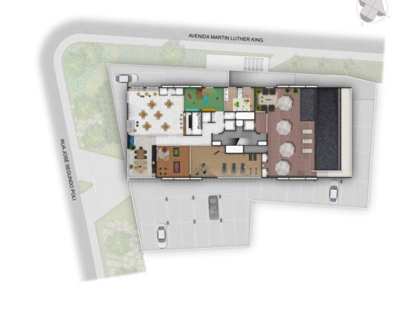 Horizon residencial - Martin Luther King - planta lazer cobertura