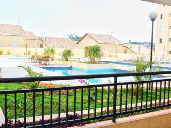 Allegrare - Rua Pernambucana - vista da piscina pela churrasqueira