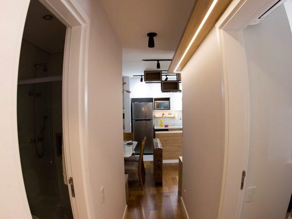 Foto da reforma concluída - Iluminação corredor