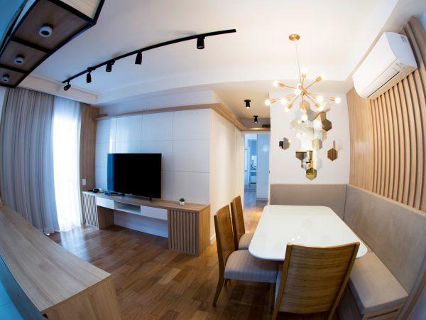 Foto da reforma concluída - Living integrado