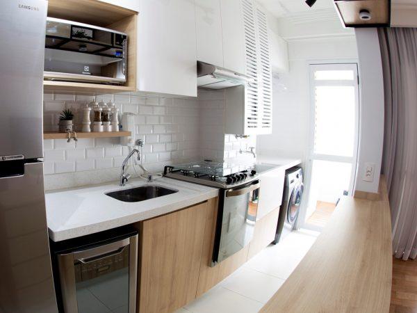 Foto da reforma concluída - Cozinha integrada