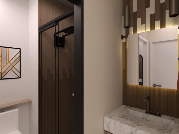 Banheiro social - Projeto Benjamin da Silva