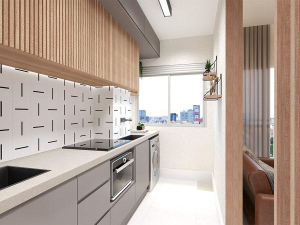 Cozinha integrada - Projeto Patrício de Camargo